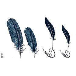 P8080 깃털 타투 스티커