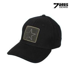 [726 기어] 네이비 스타 캡 모자 (블랙)