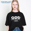 오드스튜디오 코디네이트 티셔츠 - BLACK