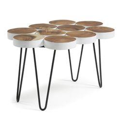 파이나 티크원목 디자인 사이드&커피 테이블
