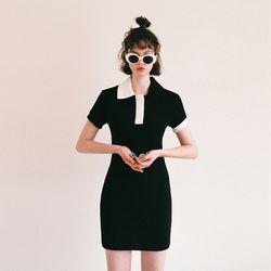 [예약판매 07/26 발송] (CTA2) 카라 포인트 원피스 블랙