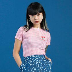 19SM CHECK T-SHIRT - Pink