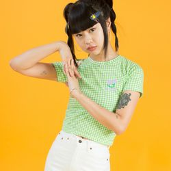 19SM CHECK T-SHIRT - Green