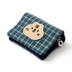 초록 체크 람식이 카드지갑