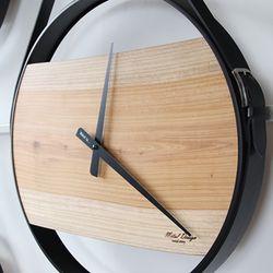 느티나무 철제프레임 대형원목벽시계