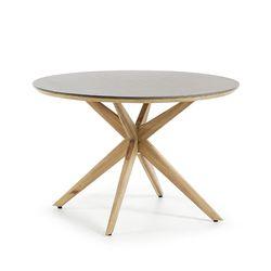 쥴리엣 수퍼스톤 원목 라운드 아웃도어 테이블 (1200)