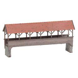 [222574] 지붕형 보행자 다리 (N게이지)