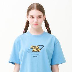 [무료배송] Noise circle regular fit T-shirts skyblue