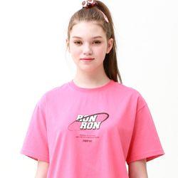 [무료배송] Noise circle regular fit T-shirts cherry pink