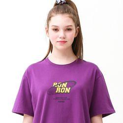 [무료배송] Noise circle regular fit T-shirts purple