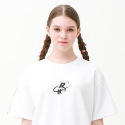 [무료배송] Check track regular fit T-shirts white