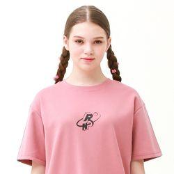 [무료배송] Check track regular fit T-shirts indi pink