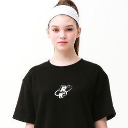 [무료배송] Check track regular fit T-shirts black