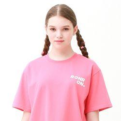 [무료배송] Outline regular fit T-shirts cherry pink