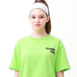 [무료배송] Outline regular fit T-shirts lime