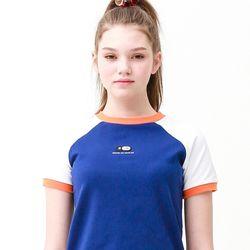 [무료배송] raglan crew neck T-shirts deep blue