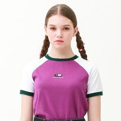 [무료배송] raglan crew neck T-shirts purple
