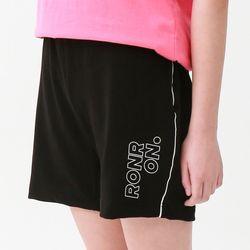 [무료배송] RONRON line half pants black