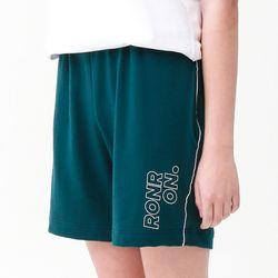 [무료배송] RONRON line half pants deepgreen