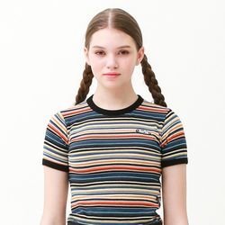 [무료배송] Stripe ringer summer t-shirts blue