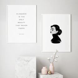 오드리 햅번 명언 인테리어 액자 A3 포스터