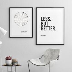 디터람스 명언 인테리어 액자 A3 포스터