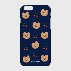 Dot cherry bear-navy