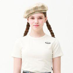 [무료배송] Mini circle logo crop T-shirt ivory