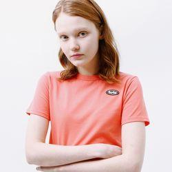 [무료배송] Mini circle logo crop T-shirt pink
