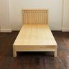 White-ash single bed