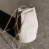 minimal cylinder shape bag - cream