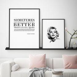 마릴린먼로 명언 인테리어 액자 A3 포스터