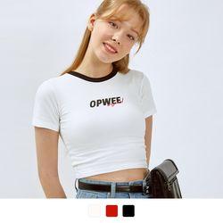 차밍 크롭 반팔 티셔츠