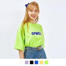 스프링컬러 반팔 티셔츠