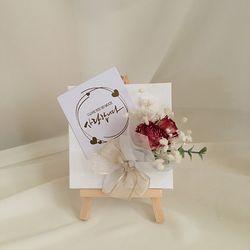 (미니꽃다발)미니캔버스이젤 부모님선물 개업선물 승진축하선물