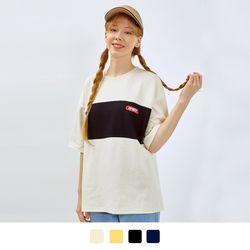어레인지 배색 반팔 티셔츠