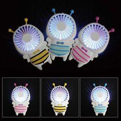 우드밀리 휴대용 선풍기 꿀벌 캐릭터 LED선풍기