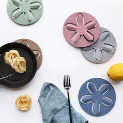 파스텔 실리콘 플라워 냄비받침(5color)