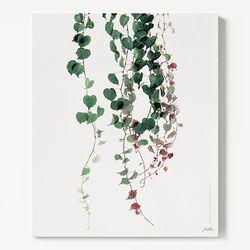 캔버스 보타니컬 식물 인테리어 아트 액자 그린 아이비 B [6호]