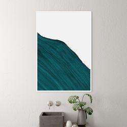 그린웨이브 추상화 액자 인테리어 A3 포스터