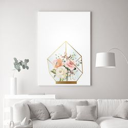 루비 장미 꽃 그림 액자 A3 포스터