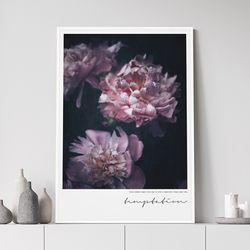 템테이션 모란 꽃 그림 액자 A3 포스터