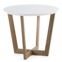 호도르 라운드 사이드 테이블 화이트