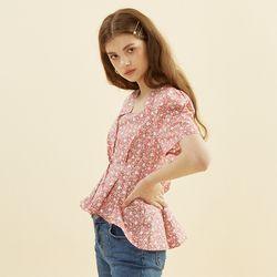 Floral Puff Shoulder Blouse