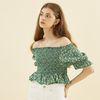 Smocking Blouse Green