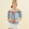 Shelby Chiffon Blouse Blue