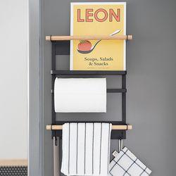 모토 철제 자석 냉장고 벽선반 자석선반 키친타올걸이