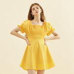 Smocking Dress Yellow