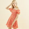 Smocking Dress Red