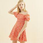 Smocking Dress Red